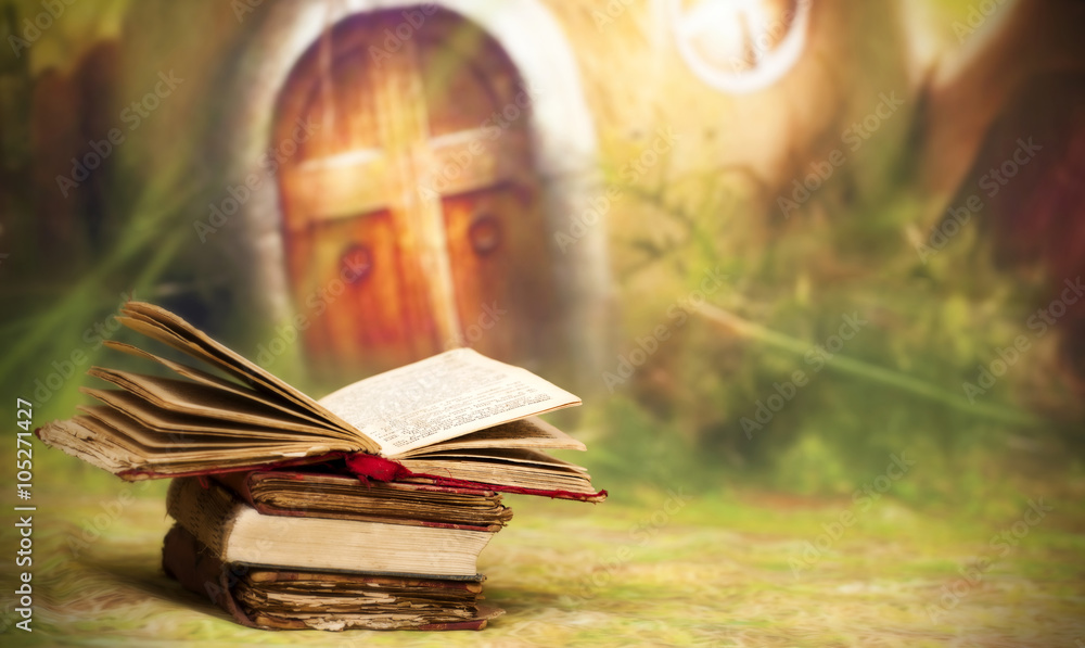 Fototapeta Old, magic, fairytale books