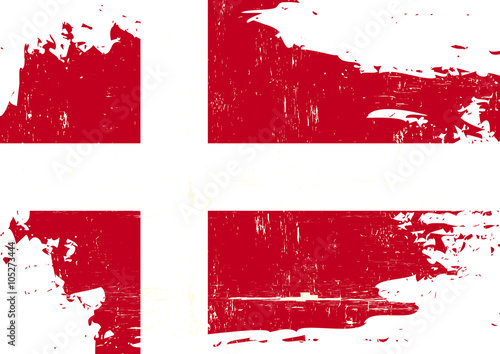 Photo  Denmark scratched Flag