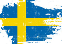 Swedish Scratched Flag