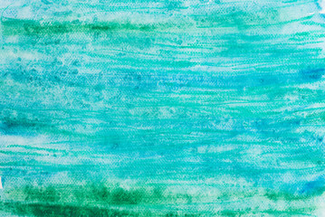 Fototapetawatercolor blue painted background