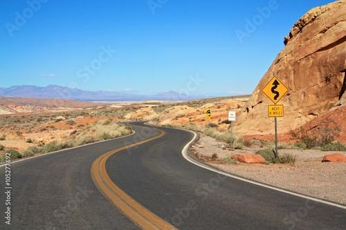 Keuken foto achterwand Route 66 Wüstenstraße