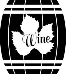 FototapetaВино, бочка с вином, логотип