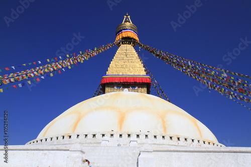 Staande foto Nepal Boudhanath in Kathmandu, Nepal.