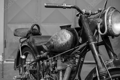 Photoshoot of old rusty vintage motorcycle © pasicevo