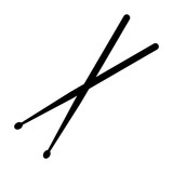 Drumsticks or drum sticks flat icon for music apps and websites