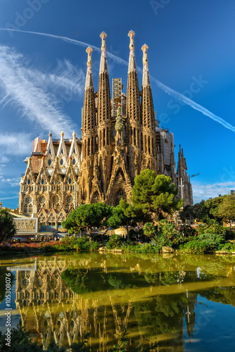 Papiers peints Barcelona Nativity facade of Sagrada Familia cathedral in Barcelona