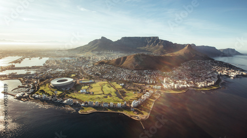 Photo sur Aluminium Gris Aerial view of Cape Town, South Africa