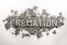 The Word Cremation Written In Ash