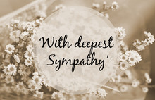 """With Deepest Sympathy"" Note O..."