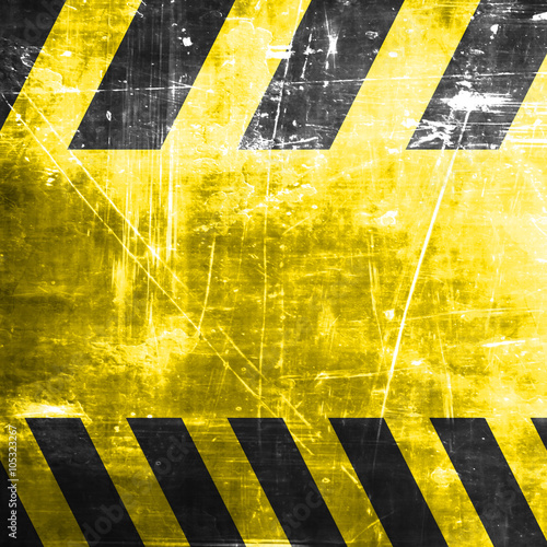 Fotobehang Fiets Black and yellow hazard stripes