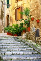 Fototapeta na wymiar authentic medieval villages of Italy - Casperia