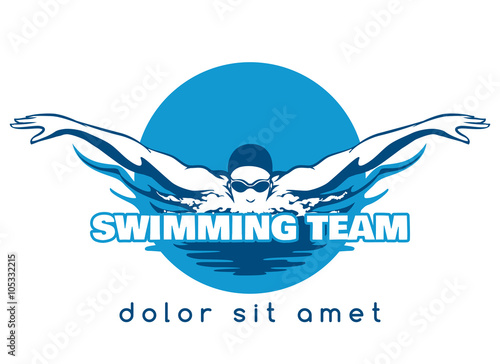 Canvas Print Swimming Team Vector Logo