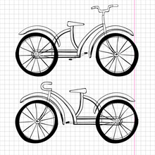 Set Of Doodle Bicycles, Excell...