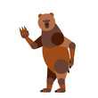 Abstract greeting bear isolated on a white background. Vector il