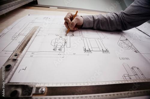 Fotografía  concept designer drawing engineer