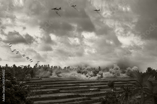 Fotografering Vietnam War - Artist recreation