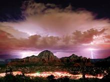 Storm Approaching Sedona, Arizona, America, USA