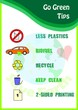 Go green poster tips with icons