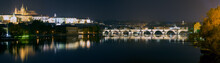 Prague (Praha) Panorama At Night