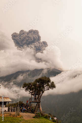 Fotografie, Obraz  Smoke Rises From Tungurahua Volcano, March 2016, Powerful Explosion, View From C