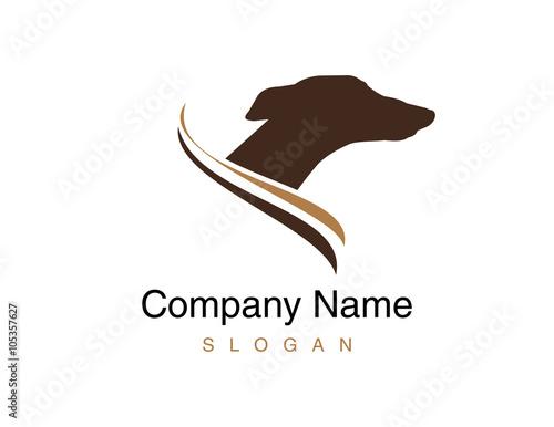 Tablou Canvas Greyhound dog logo