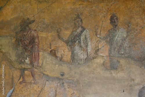 Fotografie, Obraz  Pompeii fresco. Naples (Italy)