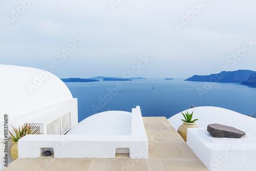 Beautiful landscape in Santorini , Greece