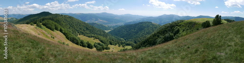La pose en embrasure Bleu ciel paysage des Vosges
