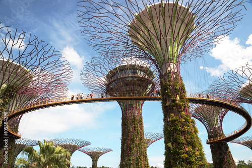 Singapore - March,2016.Gardens by the Bay in Singapore in March,
