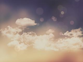 Naklejka Retro clouds and sky background
