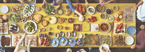 Foto op Aluminium Picknick Food Festive Restaurant Party Unity Concept