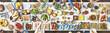 Leinwandbild Motiv Food Festive Restaurant Party Unity Concept