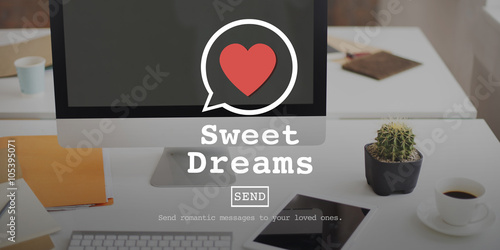 Photo Sweet Dreams Valentine Romance Love Heart Dating Concept