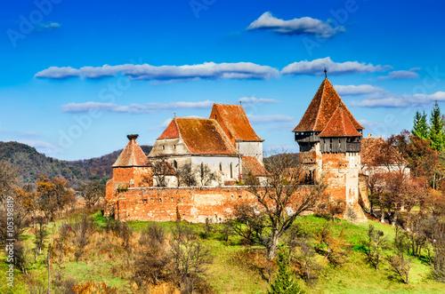 Alma Vii church, Transylvania, Romania Wallpaper Mural
