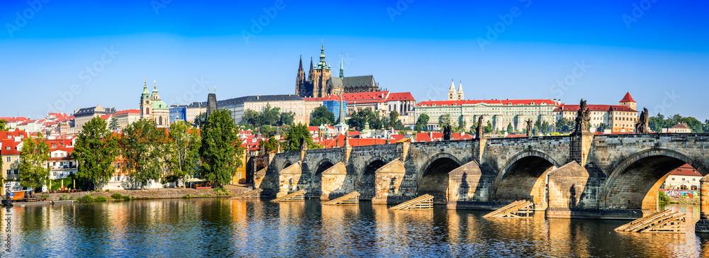 Fotografie, Obraz  Prague, Charles Bridge, Czech Republic