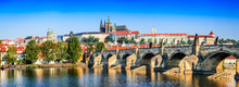 Prague, Charles Bridge, Czech ...