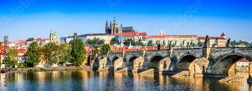 Prague, Charles Bridge, Czech Republic Canvas Print