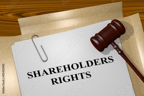 Fotografía  Shareholders Rights concept