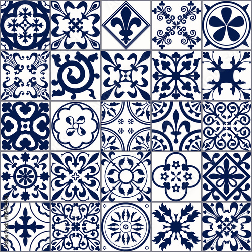 Tapety do aneksu kuchennego  moroccan-tiles-seamless-pattern-a