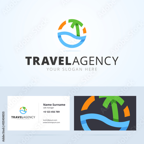 Logo and business card template for travel agency buy this stock logo and business card template for travel agency friedricerecipe Images