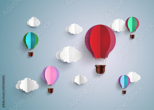 Fotografia, Obraz hot air balloon and cloud