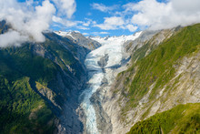Aerial View Of Fox Glacier On ...