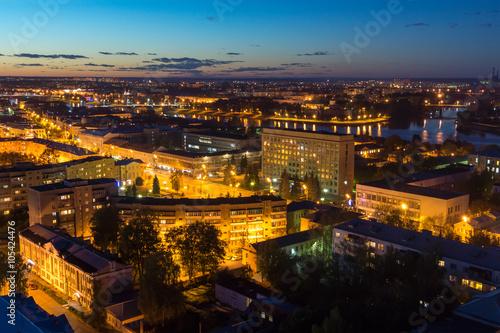 Fototapeta Beautiful night cityscape in Tver obraz na płótnie