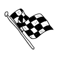 Simple Doodle Of A Checkered Flag