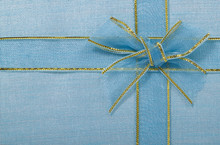 Blue Bow On Textile For Pattern