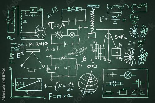 recznie-rysowane-zestaw-fizyki