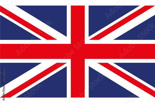 Stampa su Tela Flag of Great Britain Vector