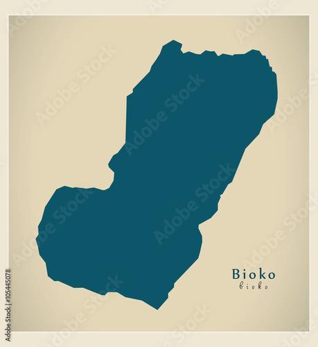 Canvas Print Modern Map - Bioko complete GQ