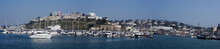 Panorama Of The Port In Torquay, South Devon, Cornwall, England, Europe