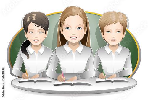 Fotografía  students / happy children in class